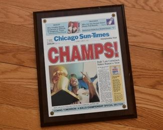 Chicago Bulls Championship Plaque (Chicago Sun-Times)