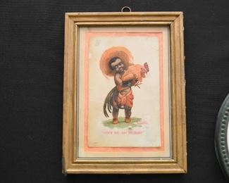 Black Americana Postcard, Framed