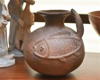 Pottery Vessel with Fish