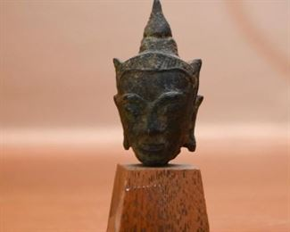 Miniature Antique Buddha Bust (S.E. Asia)