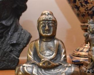 Pair of Buddha Statues / Bookends