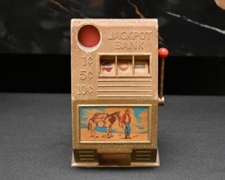 Vintage Slot Machine Bank