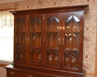 Traditional Queen Anne Style China Cabinet