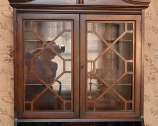 Antique Secretary with Display Hutch