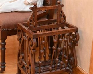 Ornate Magazine Rack (needs some minor repair / gluing)