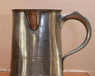 Antique  Metalware Pitcher