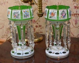 Antique Victorian Glass Lusters