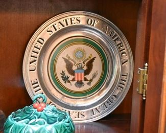 Pewter USA Seal Plate