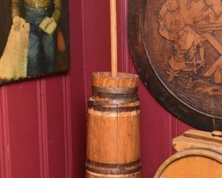 Wooden Butter Churn (1 of 2)