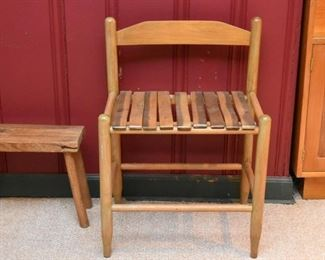Primitive Chair with Slatted Seat