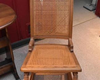 Antique / Vintage Rocking Chair with Cane Back & Seat