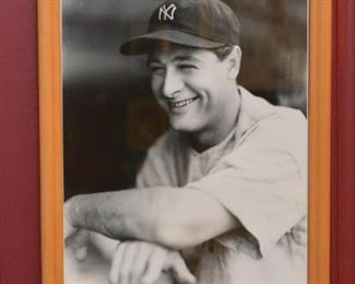 Framed Photo of Lou Gehrig