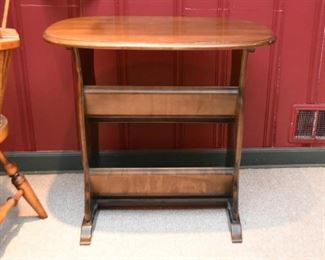 Side Table with Oval Top