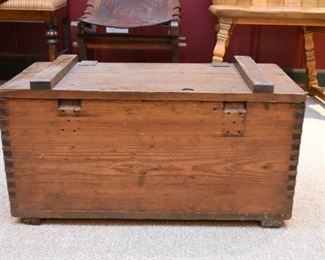 Primitive Wooden Tool Box / Chest