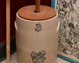 Stoneware Butter Churn (1 of 2)