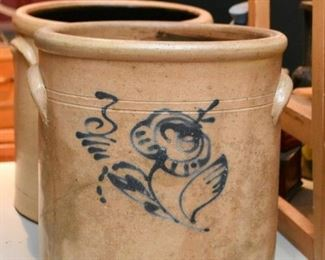 Stoneware Pottery Crocks (Flower)