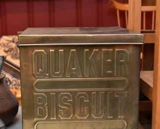 Quaker Biscuit Works Tin
