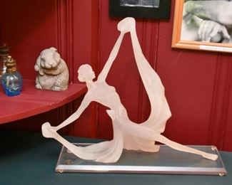 Lucite Statue of Dancer