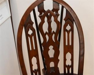 Antique Wooden Chair (Cathedral Arch Back)