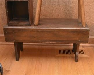 Primitive Wooden Stool / Bench