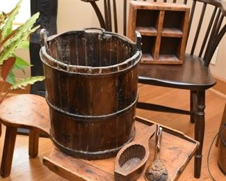 Primitive Wooden Buckets / Pails