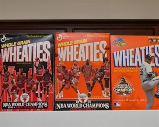 Wheaties Boxes (Chicago Bulls & White Sox)