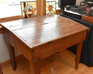 Antique Primitive Slant Top Desk