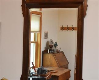 Traditional Wall Mirror with Wood Frame