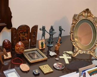 Decorative Eggs, Religious Items, Figurines, Picture Frame, Etc.