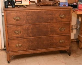 Burl 3-Drawer Chest / Dresser