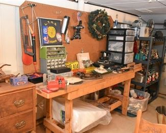 Work Bench, Workshop, Tools