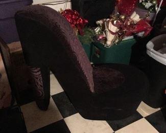 Velvet Shoe chair