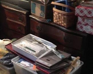 Set of three antique dressers