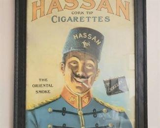 Hassan Cork Tip Cigaretes Sign