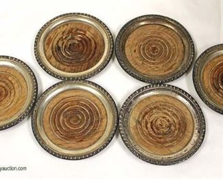 Set of Wood Sterling Wrapped Coasters  Located Showcases – Auction Estimate $20-$50