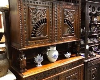 Fabulous Breton/Brittany carved cupboard