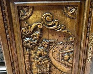 Breton carved cupboard doors