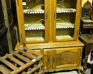 country French china cabinet- French wine rack
