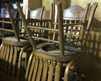 American oak dining chairs