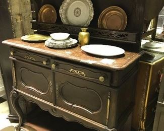 Country French marble top server
