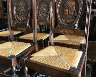RARE! Breton dining table with 6 chairs