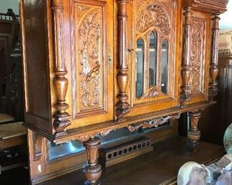 Elegant carved double buffet