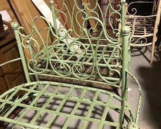 Iron garden benches