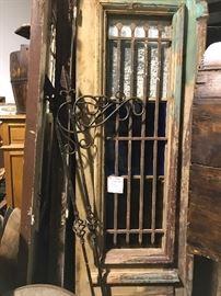 Rustic doors with iron