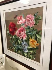 Needlepoint floral art