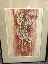 Mid Century signed & numbered print- P Maxwell #2 of 235