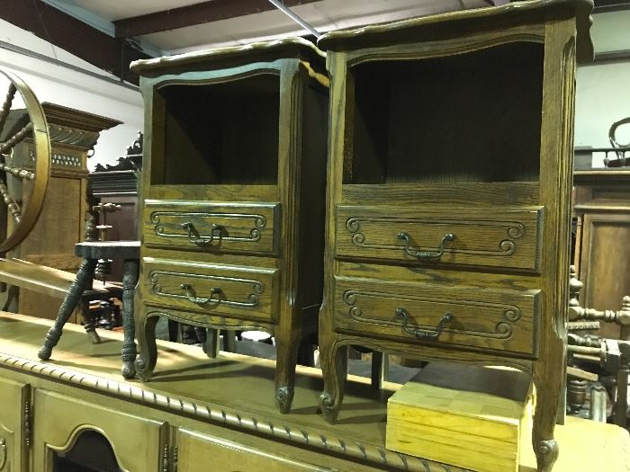 Country French bedside cabinets