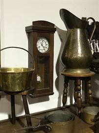 Copper brass clocks
