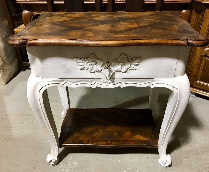 Painted French accent table