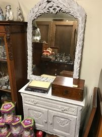 Painted Country French chest & mirror
